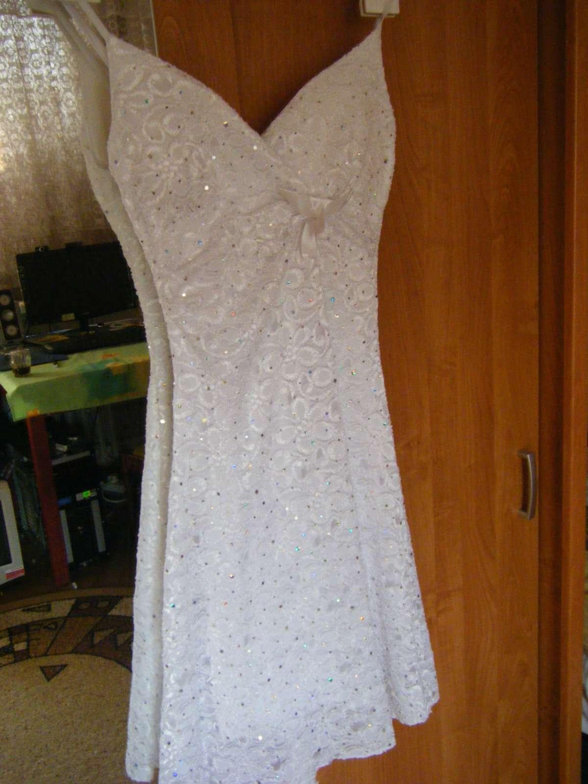 23d7f066031f Letné flitrované čipkované šaty veľkosť 36-38