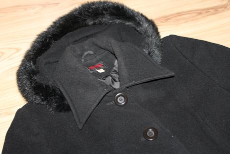 Dlhý  kabát s kapucňou zn. Odema, 40