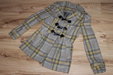 Károvaný kabát princesovského strihu, 36