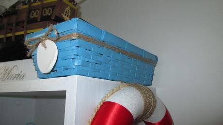 dekoračné namornícke košíčky s keramickou vysačkou,