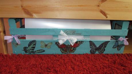 dekoračný uložný diel motýle,