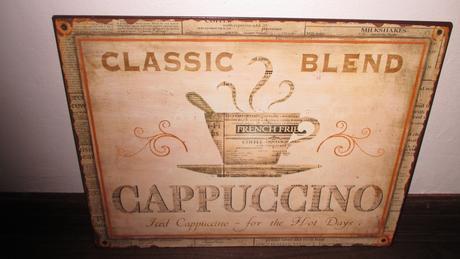 plechová tabula-obraz cappuccino,