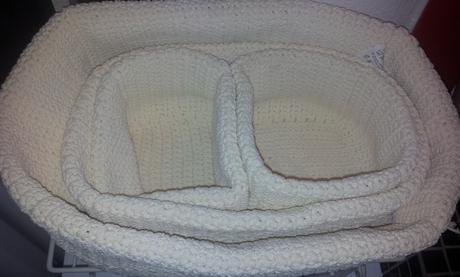 uložné pletené diely sada 4 kusov,