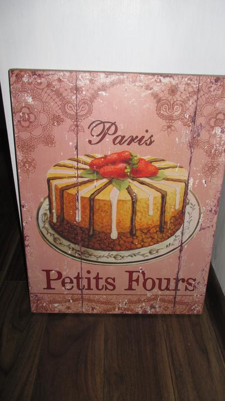 velký vintange obraz paris petits fours,