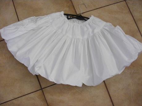 biela kruhová sukňa, 2x oblečená, 140