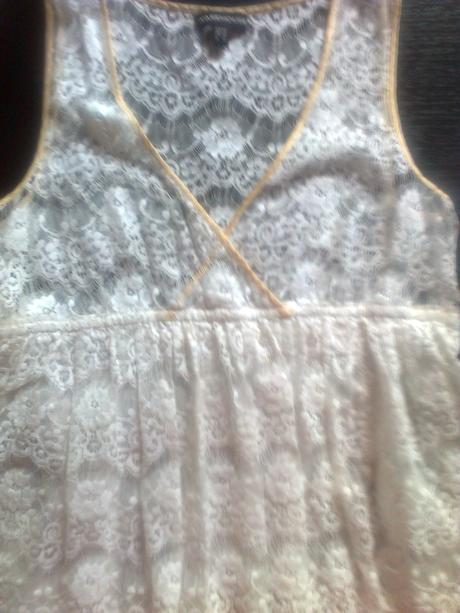 Biele šatky krajkové, 38