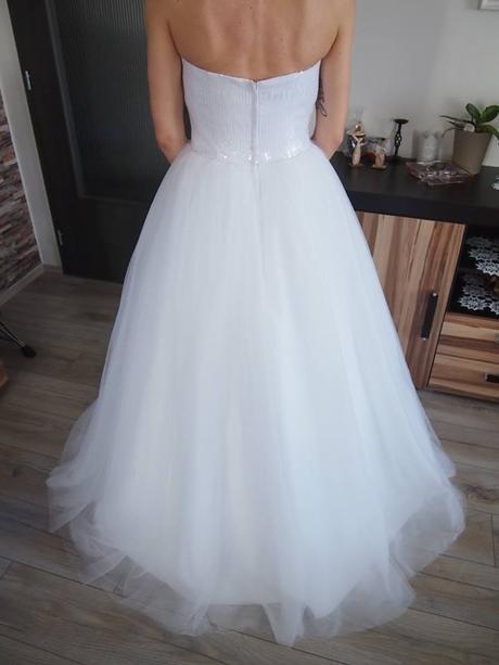 Princeznovské svatební šaty vel.41, 42