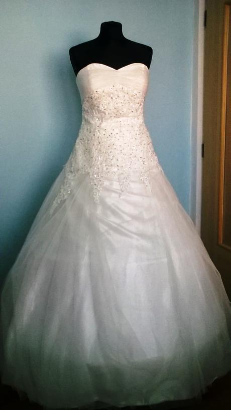 Princeznovské svatební šaty vel.46, 46