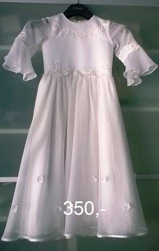 Romantické krajkové dívčí šaty, 128