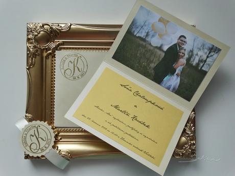 104 - Svatební oznámení ZLATÁ LOUKA,