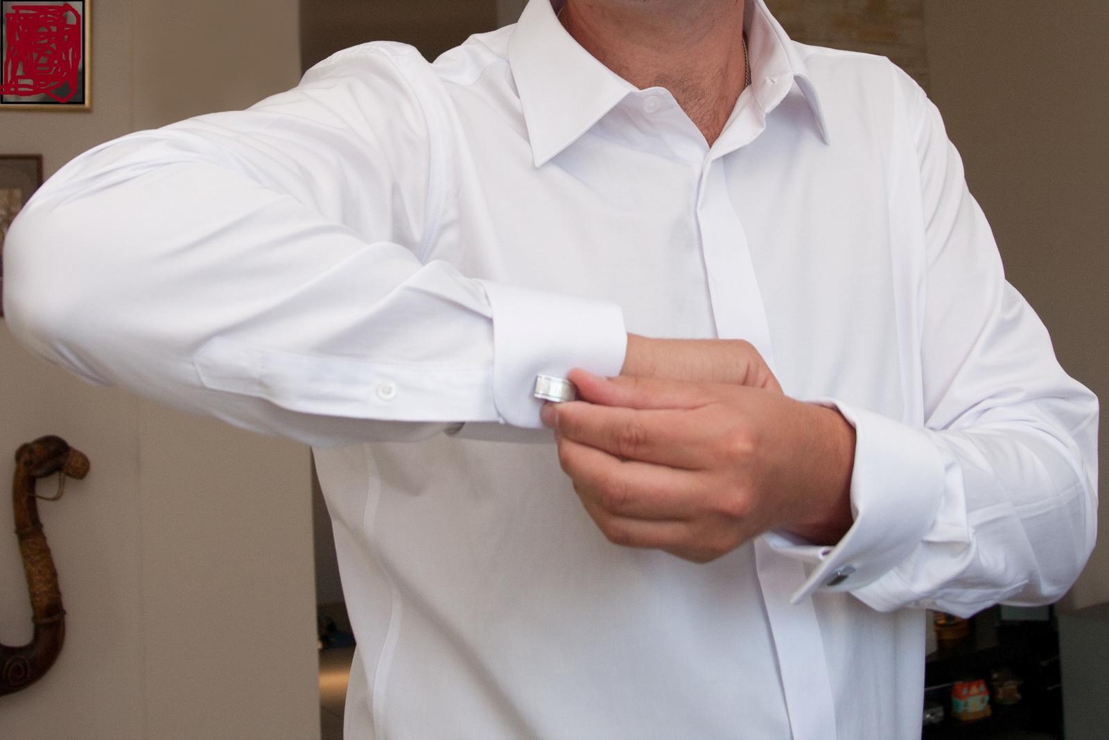 Svatební košile na manžetové knoflíčky f3e658d1f0
