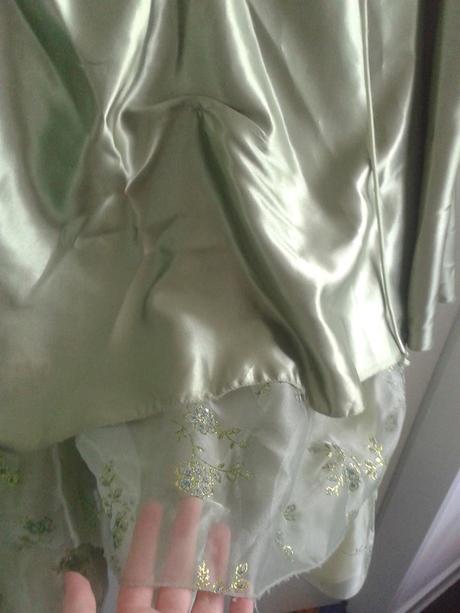 zelený šaty - sukně a korzet, 34