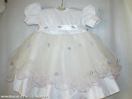 Společenské šaty vel. 6-12 měsíců, 80