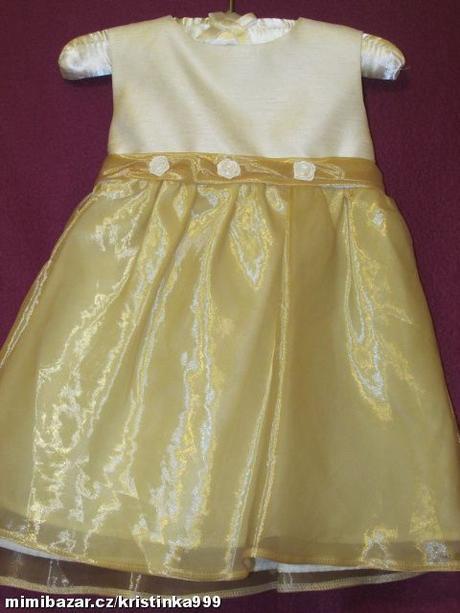 Společenské šaty vel. 6-9 měsíců, 74