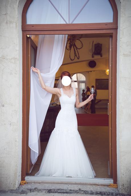 Krajkové svatební šaty (36-38), 36