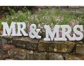 nápis Mr&MRS,