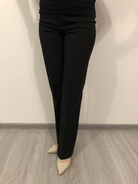 čierne elegantné nohavice, 36