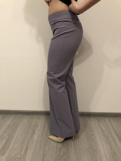 fialové elegantné nohavice, 38