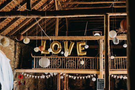 Nafukovací písmena Love,
