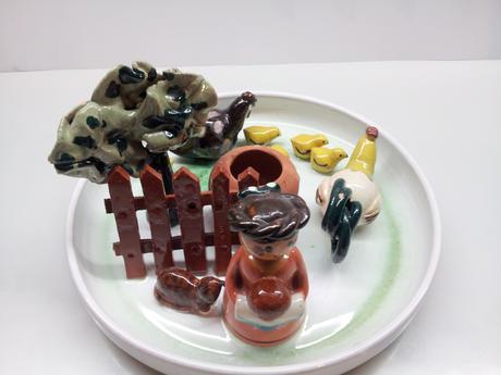 keramický svietnik ,