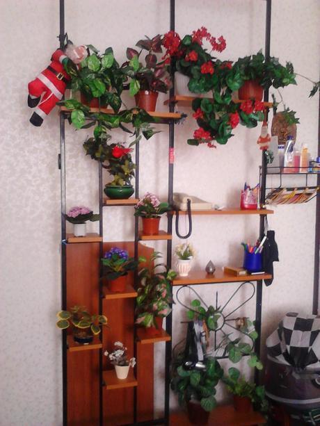 obyvacia stena + kvetinova stena,