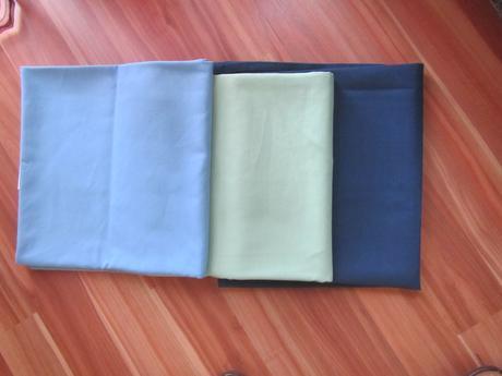 pastelove obrusy- zeleny, svetlomodry, tmavomodry,