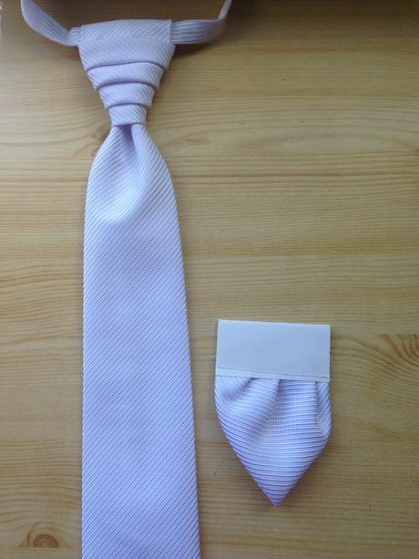Biela svadobná francúzska kravata ,