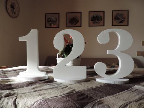 Čísla na svadobný stôl,