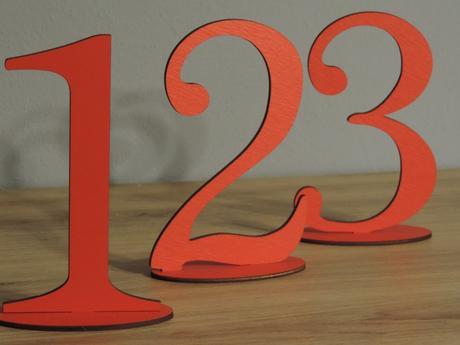 čísla na svadobný stôl ,