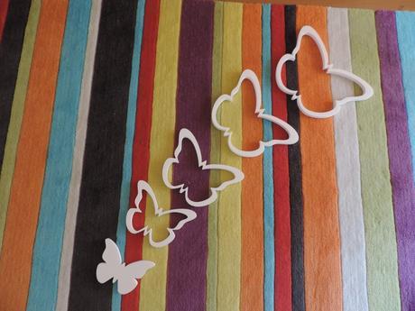 Detská dekorácia na stenu -motýle,