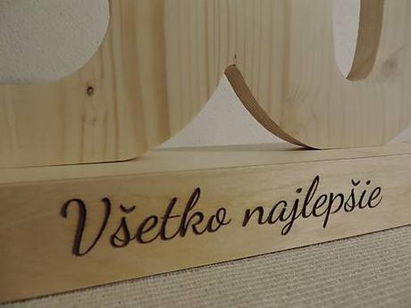 Drevené číslice na výročie II.,