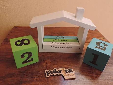 Drevené kocky s menom a kalendárik,