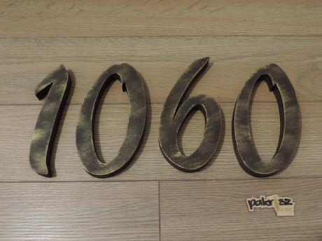 Súpisné čísla na dom s patinou,