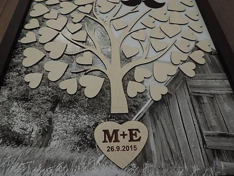 Svadobný strom s foto podkladom,