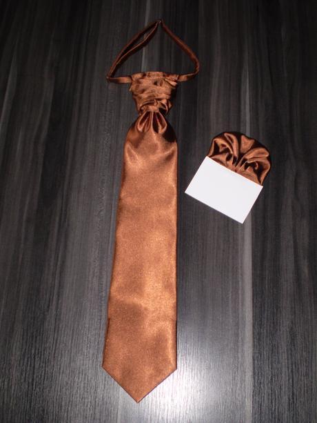 Francúzska kravata hnedá,
