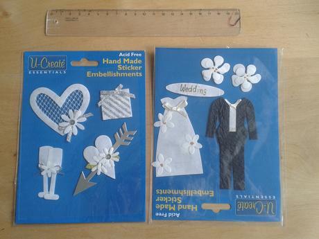 3D svatební samolepky,