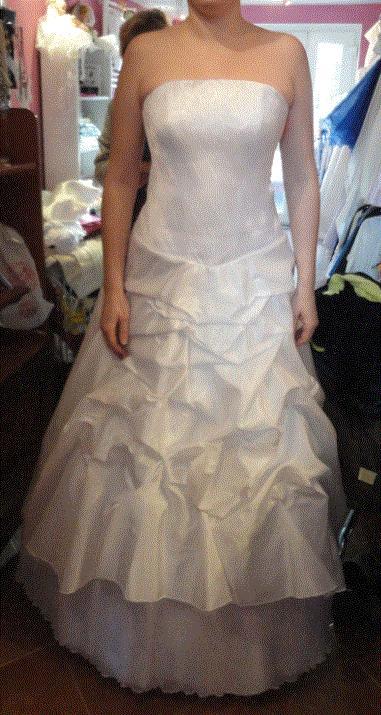 Překrásné svatební šaty, postava 180cm, 40
