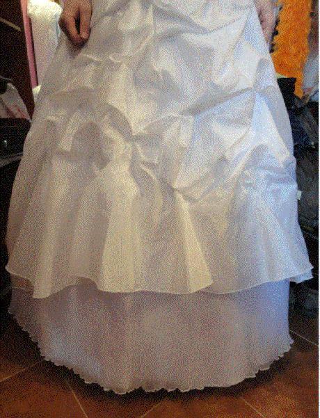Překrásné svatební šaty, postava 180cm, 42