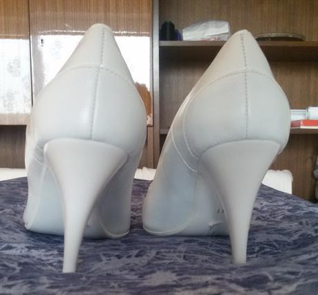 Svatební kožené lodičky, nenošené, 41
