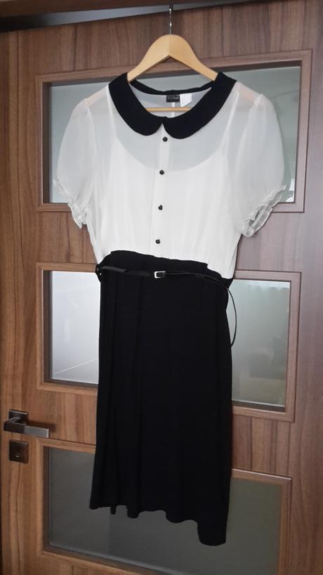 černo-bílé šaty , 40