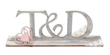 Svatební stojan s iniciály,