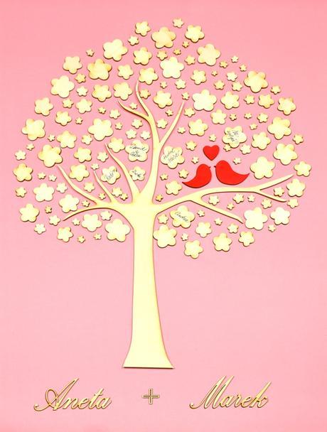 Svatební strom jako kniha hostů,