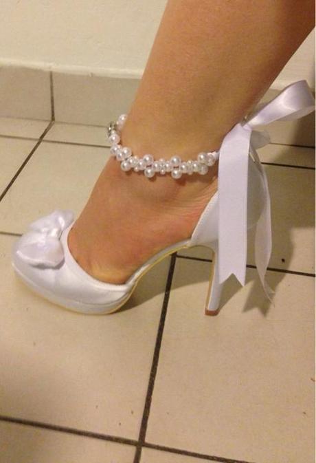 Svadobné biele topánky ef332438267