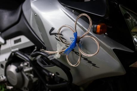 Pedigové čtyřlístky a srdce na auto s přísavkami,