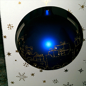detská vianočná guľa,