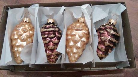 vianočné ozdoby Šišky,