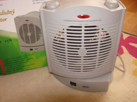 Teplovzdušný ventilátor ,