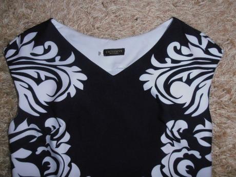 Šaty čierno-biele, 46