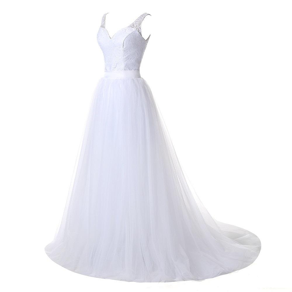 257aa0030ef7 Dlhé krátke svadobné šaty- 9 veľkostí