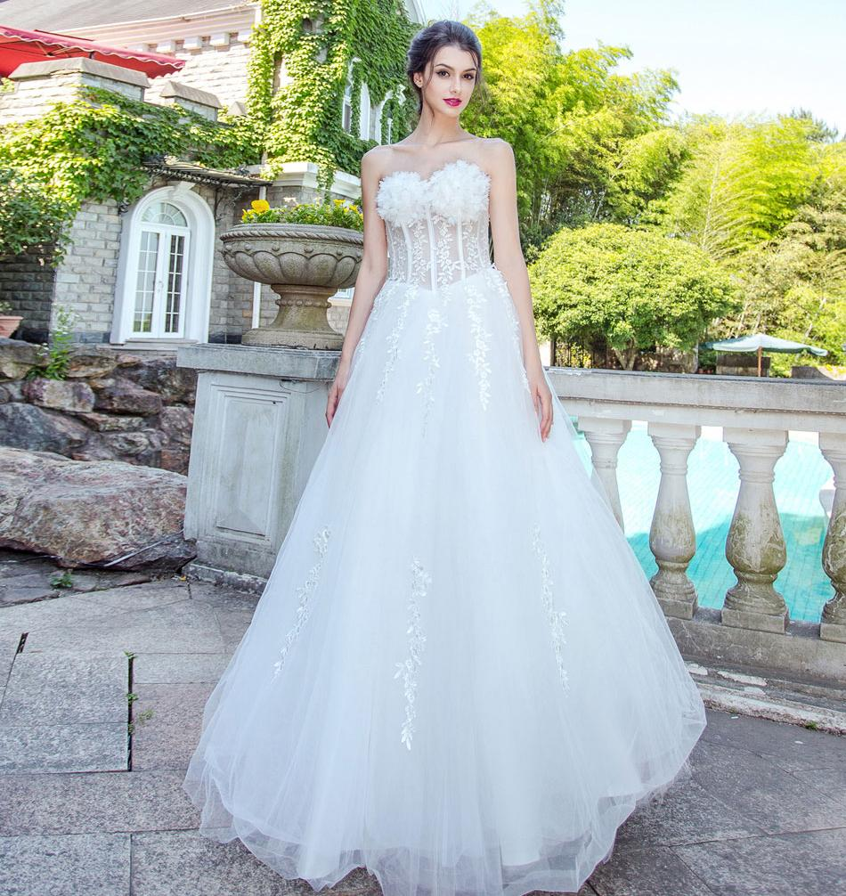 Dlhé svadobné šaty - 8 veľkostí c739869bc6e